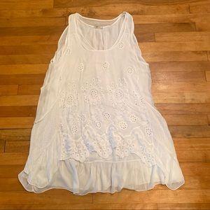 2/$25 - A layered white sleeveless dress - Large